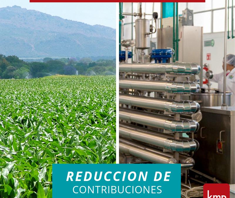 Empresas Agroindustriales: Reducción de Contribuciones Patronales