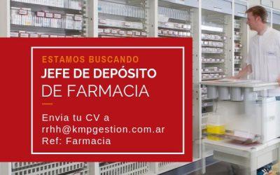 Jefe de Depósito de Farmacia
