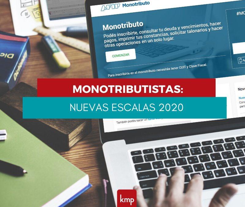 Planeamiento Fiscal / Monotributo: Nuevas Escalas para el 2020