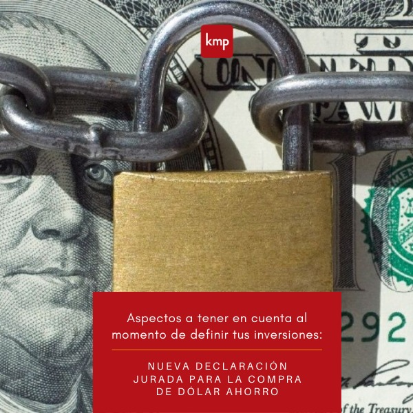 Dólar Ahorro: Nueva Declaración Jurada