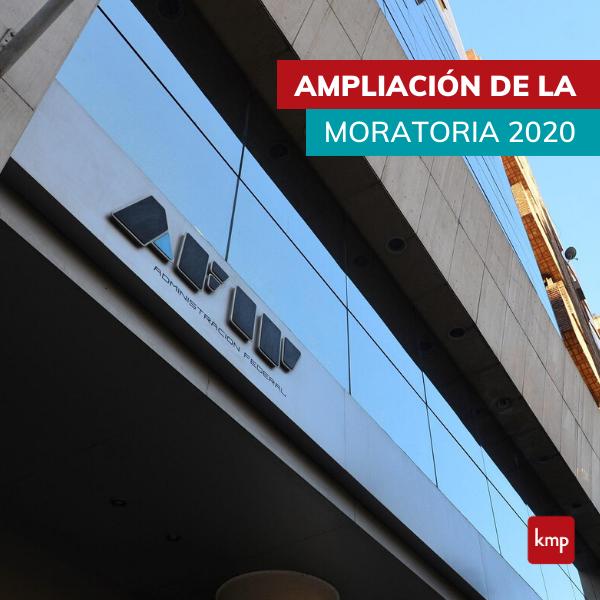 Ampliación de la Moratoria 2020