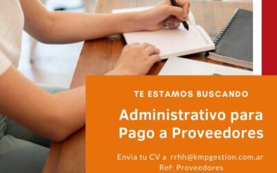 Administrativo para Pago a Proveedores