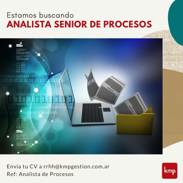 Analista Senior de Procesos