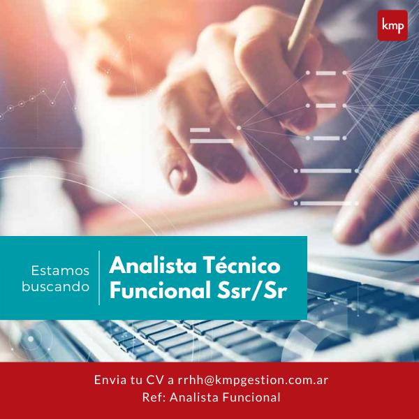 Analista Técnico Funcional Ssr/Sr