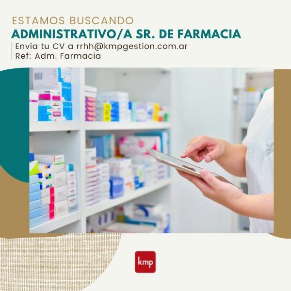 Administrativo/a Sr de Farmacia